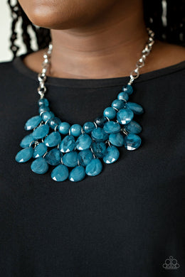 Sorry To Burst Your Bubble - Paparazzi Blue Necklace - BlingbyAshleyNicole