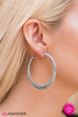 The World Is SHINE - Paparazzi Silver Hoop Earring - BlingbyAshleyNicole