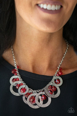 Turn It Up - Paparazzi Red Necklace - BlingbyAshleyNicole