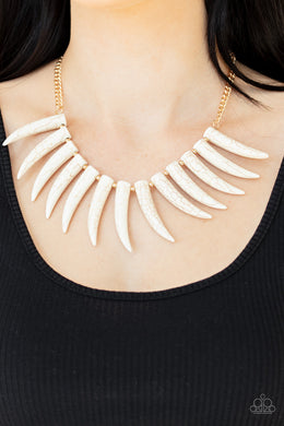 Tusk Tundra - Paparazzi White Necklace - BlingbyAshleyNicole