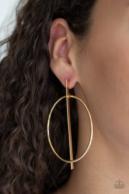 Vogue Visionary - Paparazzi Gold Earrings - BlingbyAshleyNicole