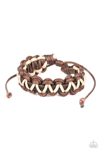 WEAVE It At That - Paparazzi Brown Bracelet - BlingbyAshleyNicole
