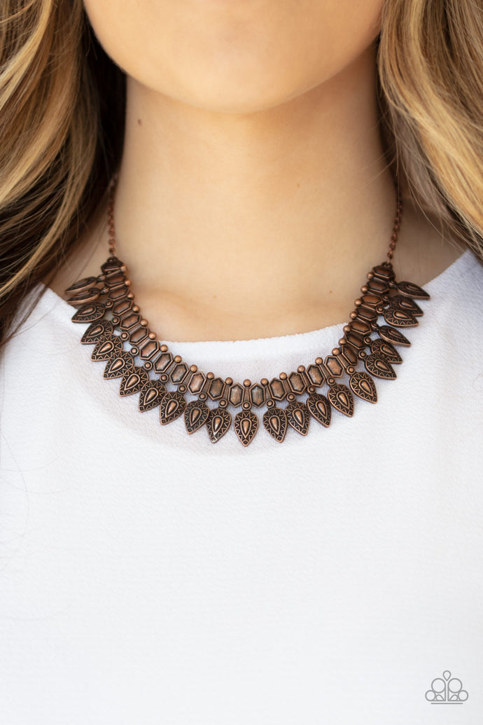 When The Hunter Becomes The Hunted - Paparazzi Copper Necklace - BlingbyAshleyNicole