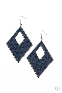 Woven Wanderer | Paparazzi Blue Earrings - BlingbyAshleyNicole
