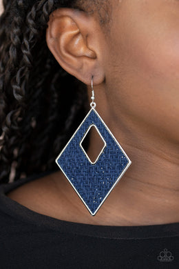 Woven Wanderer | Paparazzi Blue Earrings