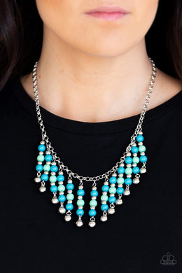 Your SUNDAE'S Best - Blue Necklace - BlingbyAshleyNicole