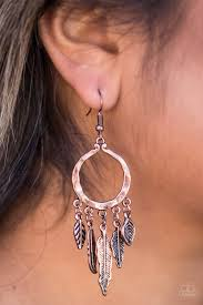 Winslow Winds - Paparazzi Copper Earrings - BlingbyAshleyNicole