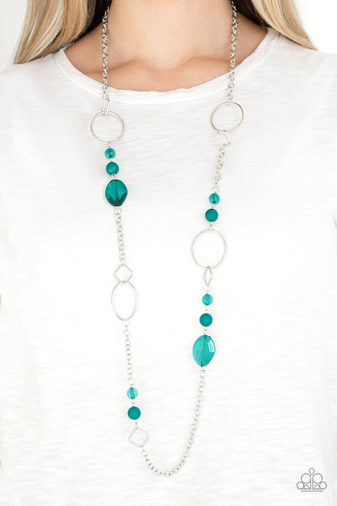 Very Visionary | Paparazzi Green Necklace - BlingbyAshleyNicole