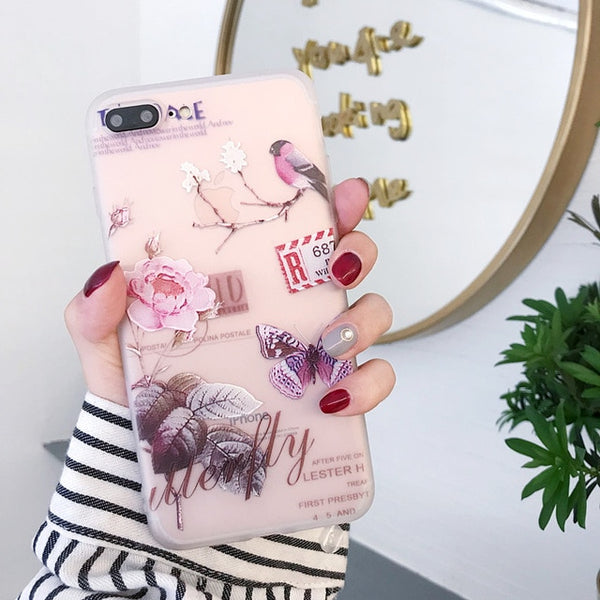Flower Phone Case For iPhone X XR 11  Girl