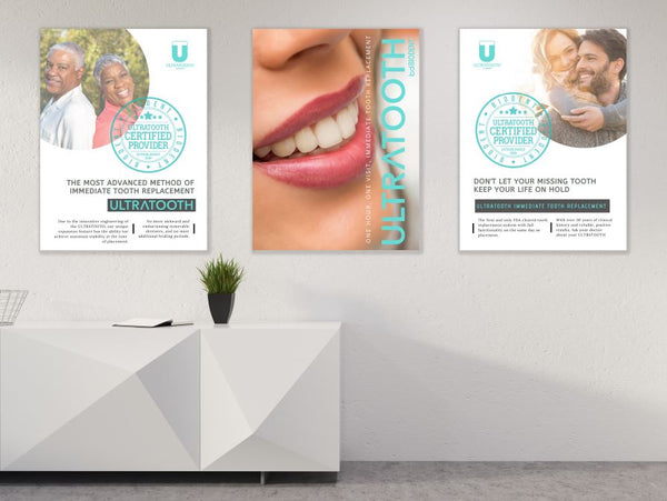 Ultratooth Certified Provider Poster Trio