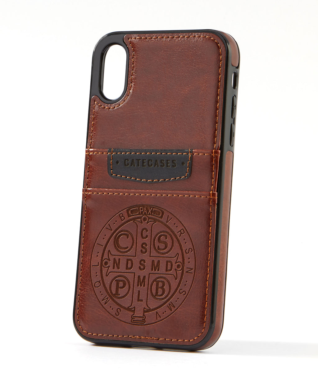 Benedictine Brown Leather Card Case for iPhone X/XS