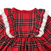 Baby Girl Eyelet Ruffle Trim Plaid Top & Shorts