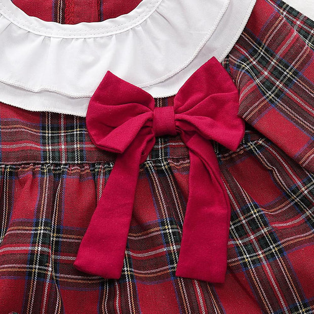 Baby Girls Christmas Ruffled Dress Short 2Pcs Outfits
