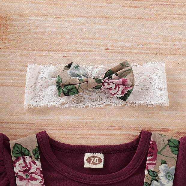 Baby Girls Floral Print Strap Sets