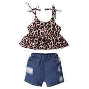Baby/Toddler Girl Floral Cami Top & Ripped Shorts