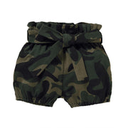 Baby/Toddler Girl Letter Ruffled Top & Camo Shorts