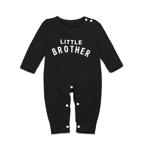 Baby Boy Letter Graphic Popper Jumpsuit