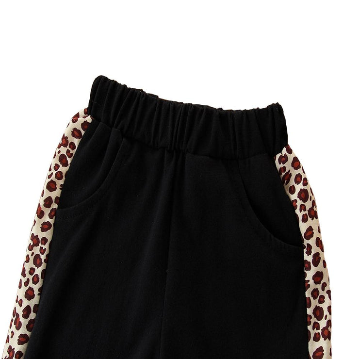 Baby/Toddler Girl Contrast Leopard Hoodie & Pants