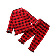 Baby/Toddler Girl Plaid Ruffle Hem 2-piece Pajamas