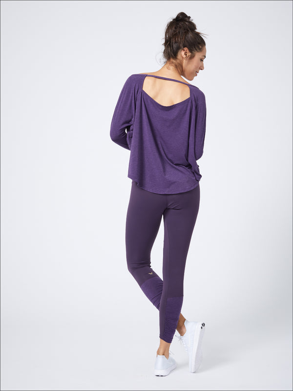 Luxurious Long Sleeve Layer Eggplant