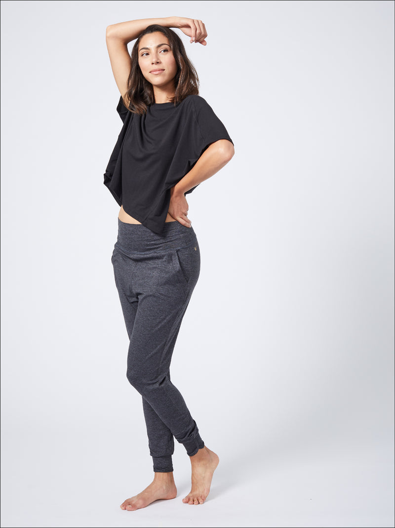 Tranquil Lounge Pant Charcoal Black