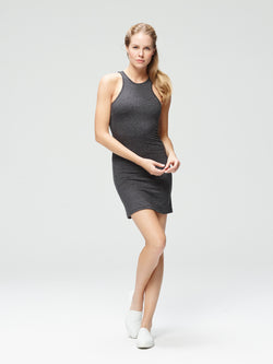 Vivacious Slim Fit Dress Charcoal Black