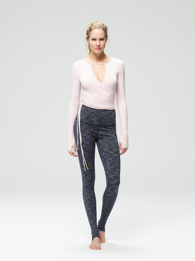 Radiant Long Sleeve Wrap Chalk Pink