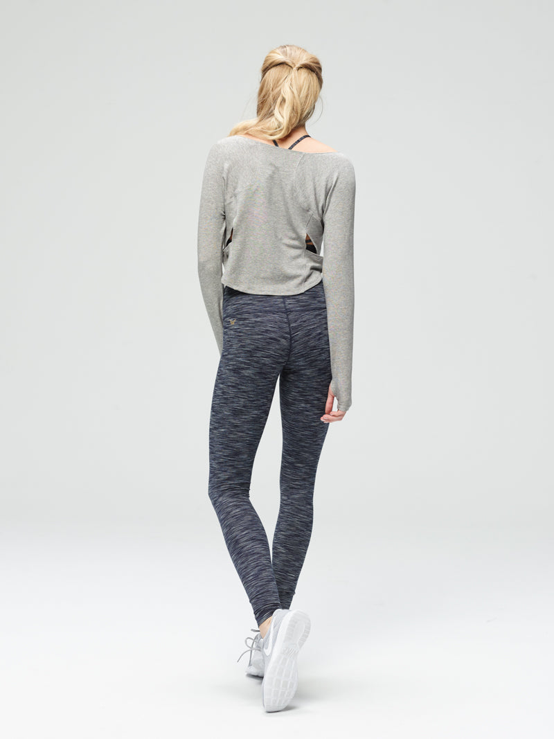 Irresistible Long Sleeve Layer Heather Grey