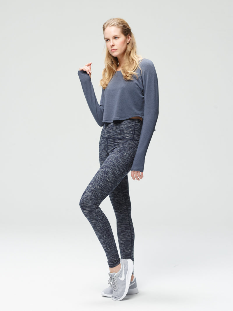 Irresistible Long Sleeve Layer Ombre Blue