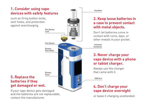 Vape battery safety tips 2020