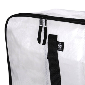 Over-Sized Clear Storage Bag with Strong Handles and Zippers - Veno