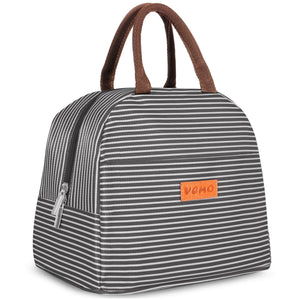 Insulated Lunch Bags, Water-Resistant and Durable - BLK/WHT - Veno