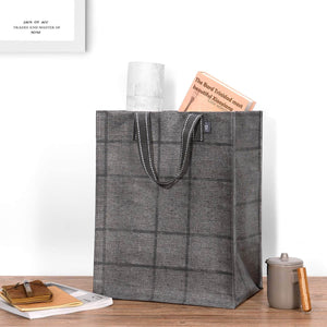 2-Pack Reusable Grocery Shopping Bag, Heavy Duty Tote with Reinforced Bottom - (Set of 4, Mixed) - Veno Bags