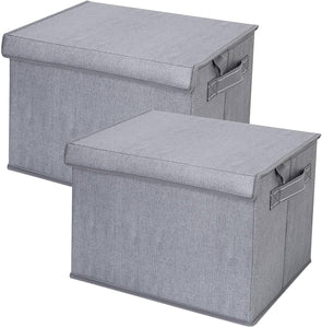 2 Pack Foldable Large Storage Bins, Collapsible Cubes - Gray - Veno