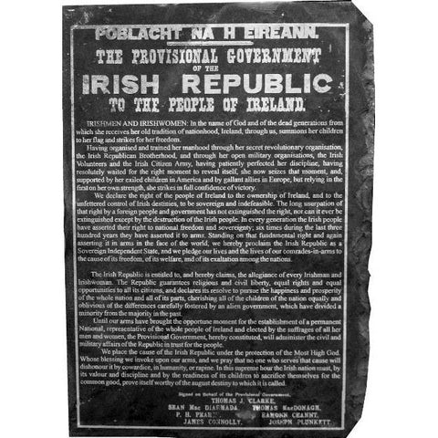1916 Irish Proclamation on Slate