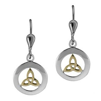 Trinity Knot Drop Earrings in Sterling Silver