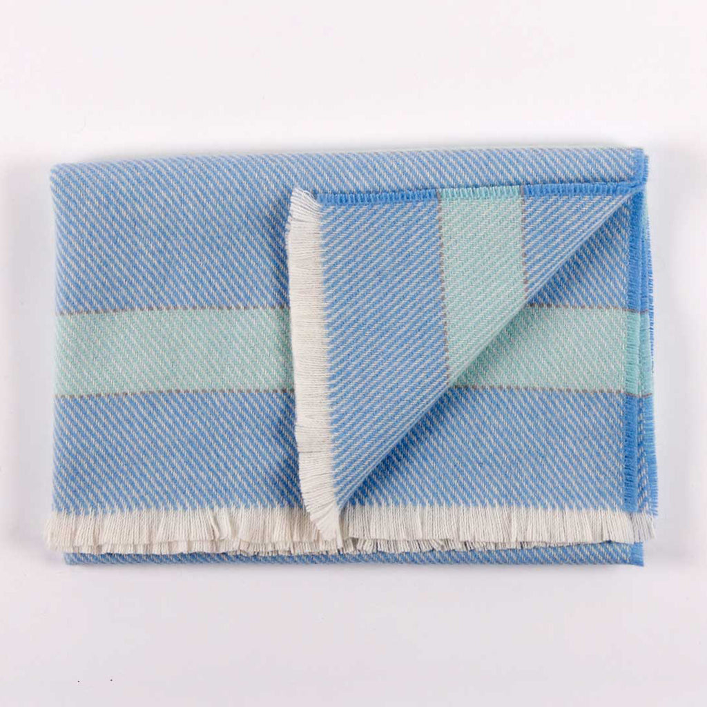 Blue Baby Blanket 100% Lambswool