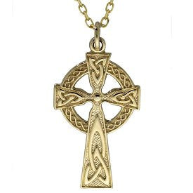 Gold Celtic High Cross in 10ct or 14ct