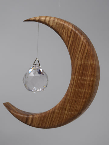 Large Olive Ash Suncatcher with Crystal Sphere