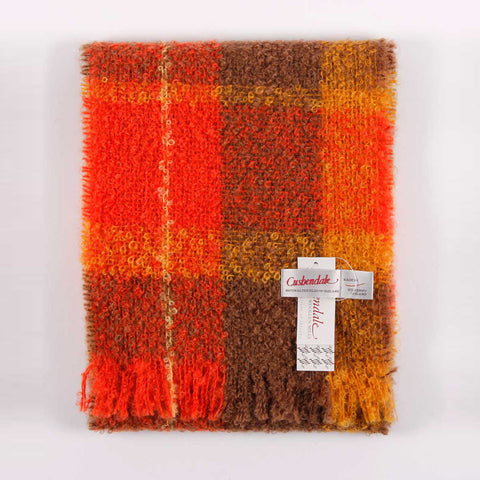 Ladies Boucle Mohair Scarf (Flame)