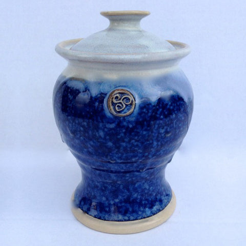 Hampton Blue Sugar Bowl w. Lid