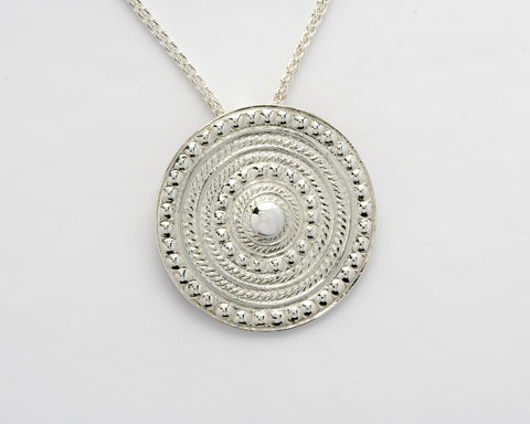 Shield Pendant Silver