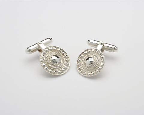 Shield Cufflinks Silver