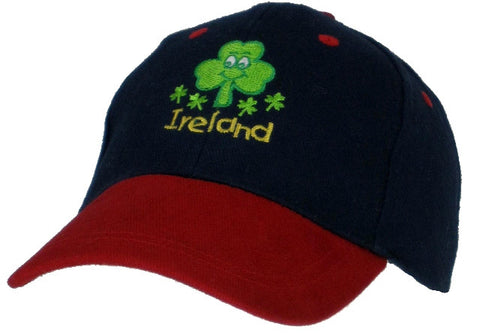 Smiley Shamrock Kid's Baseball Cap