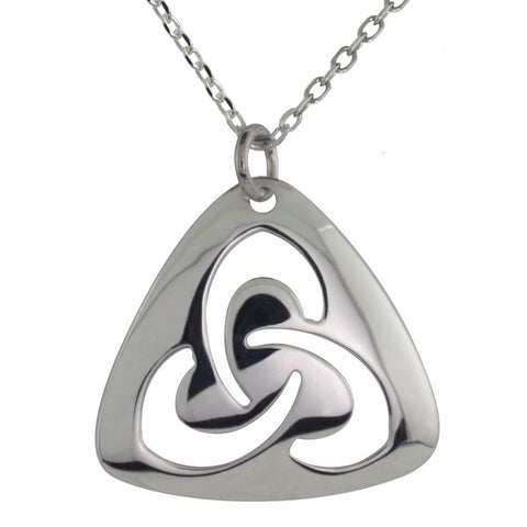 Book of Kells Trinity Knot Pendant - Sterling Silver