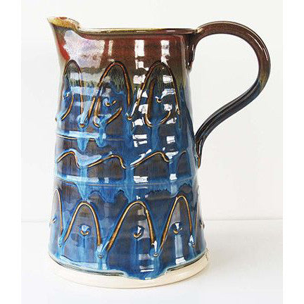 Castle Arch Pottery Caspian Blue Pottery Jug (Medium)