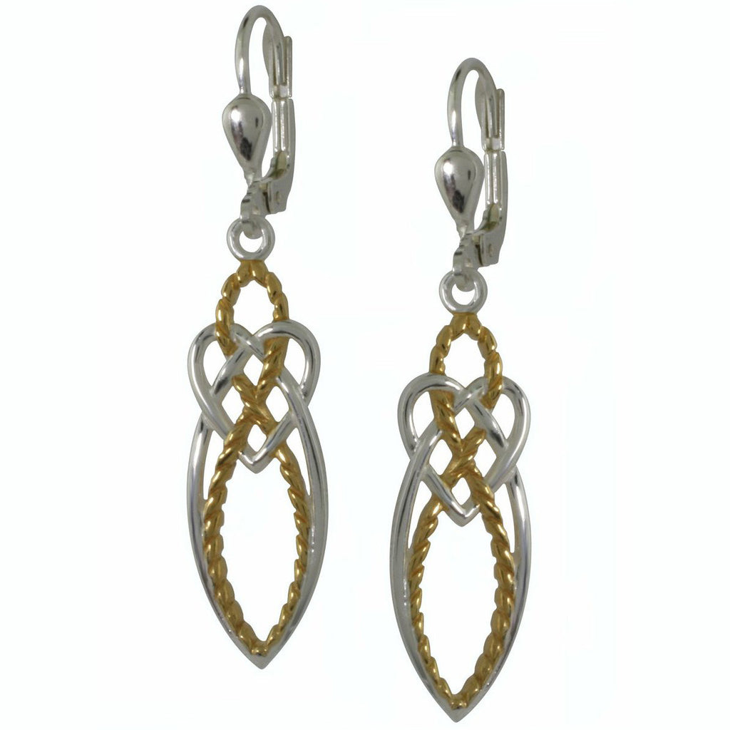 Celtic Knot Earrings with 2 Tone Effect