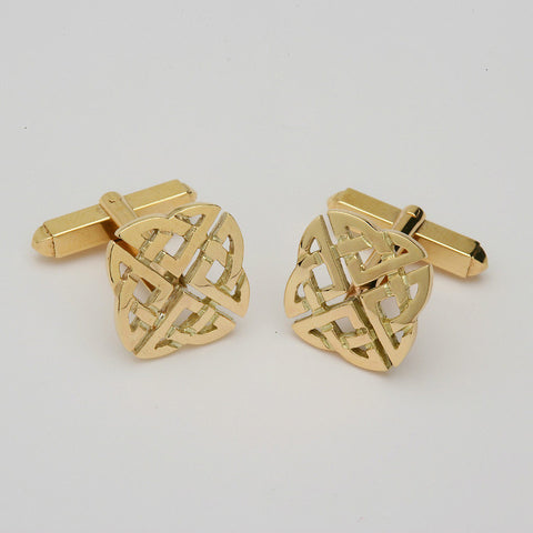 Celtic Square Cufflinks 14K Gold