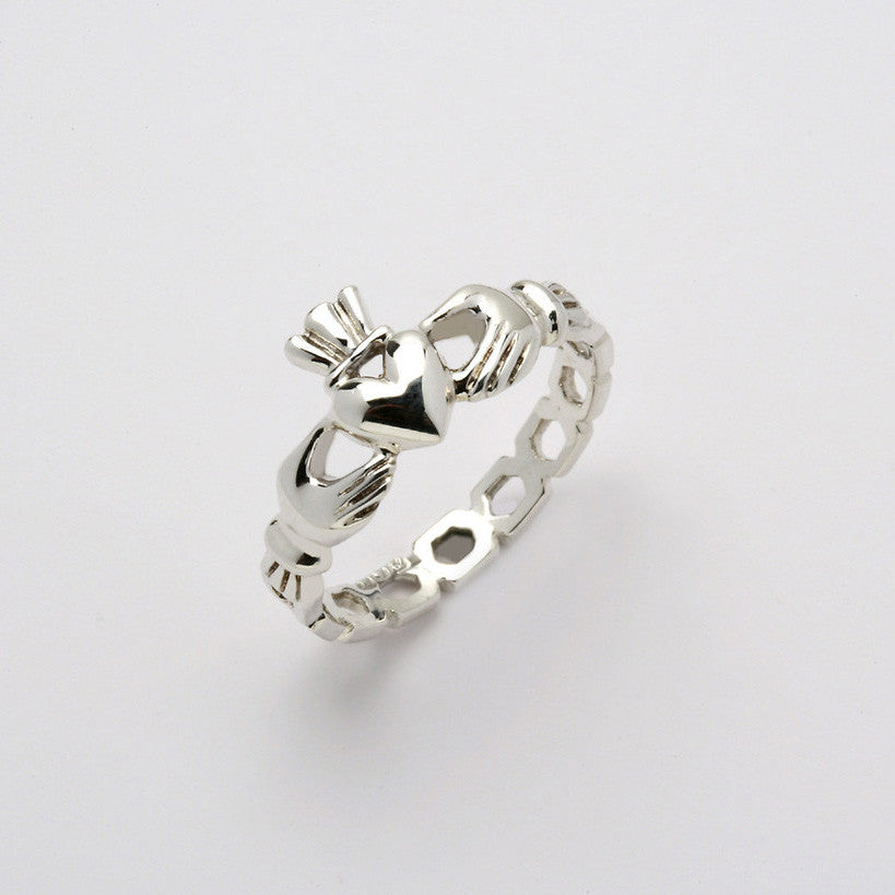 Claddagh Ring Silver Pierced (Ladies)