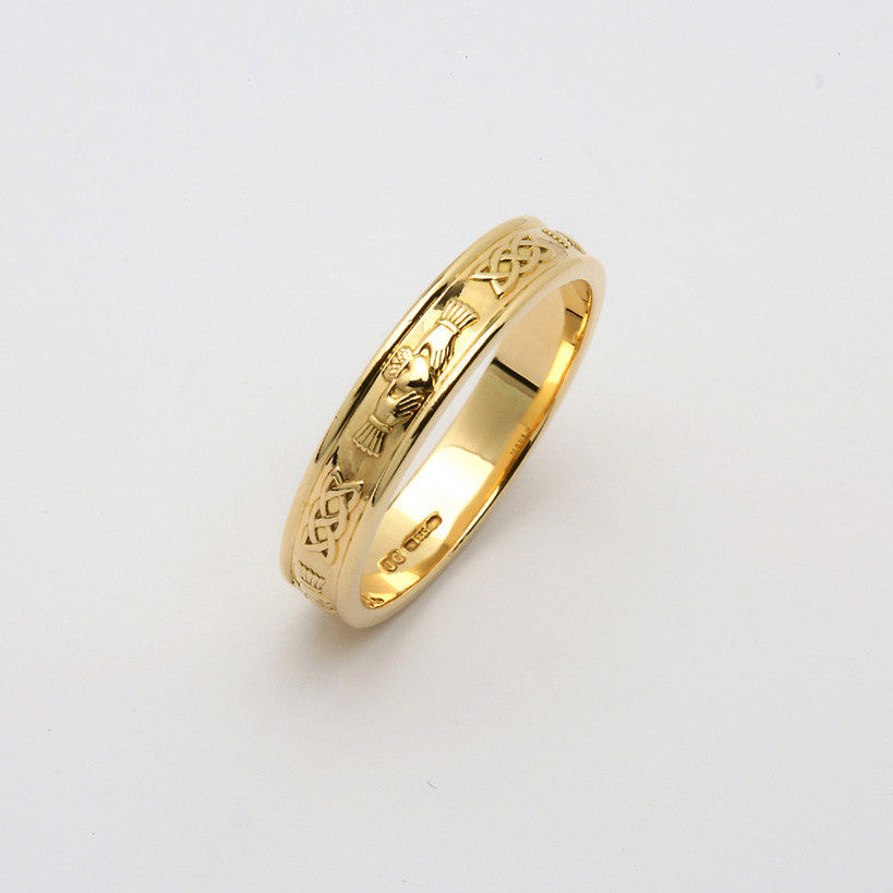 Corrib Claddagh 14k Yellow Gold Band